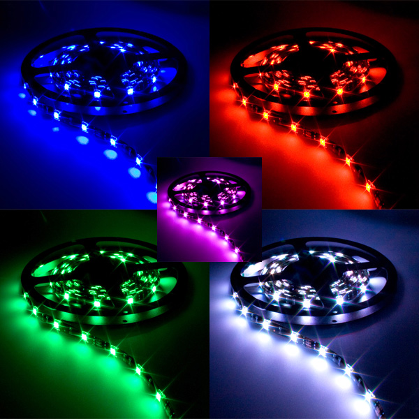 Kit bande led flexible rgb 2m changement de couleurs for Ruban led chambre