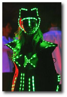 Robot led équipé de bande led RGB