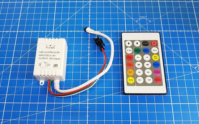 Comment raccorder et utiliser le contrôleur PIXEL Infrarouge ?