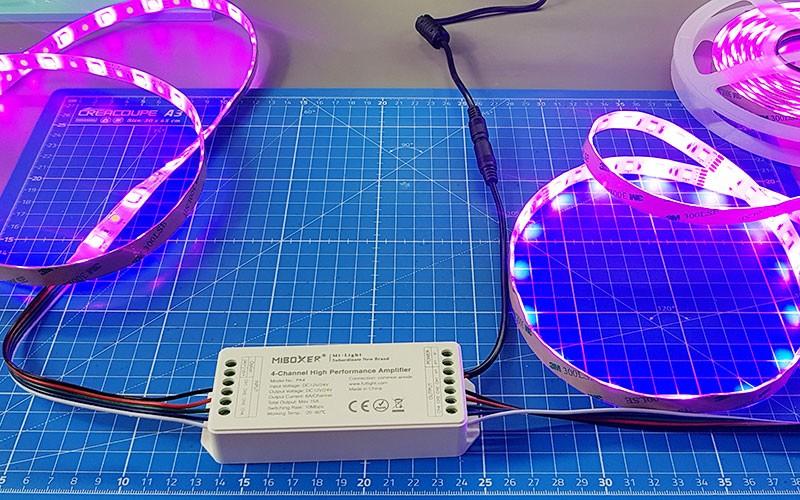 Comment brancher un amplificateur RGBW ?