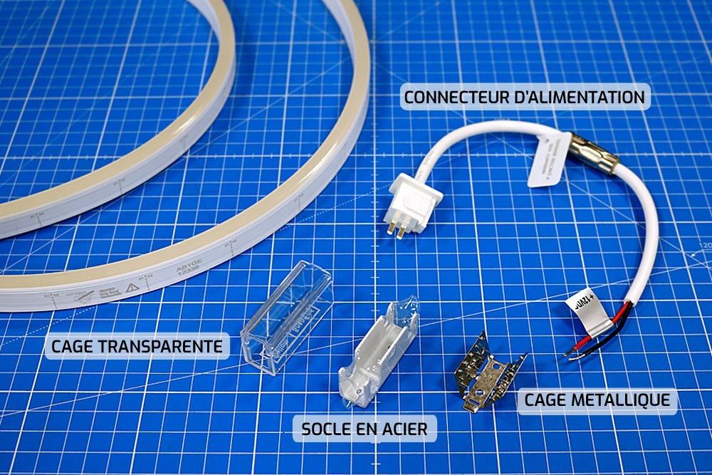 Comment installer les connectiques sur un néon LED SLIM ?