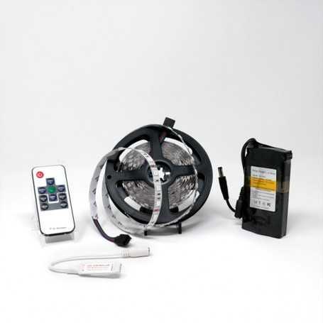 Kit bande led RGB 60led/m IP20 5m mini contrôleur RF avec batterie 4200mAh