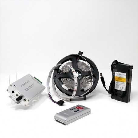 Kit bande led RGB 60led/m IP20 5m capteur son avec batterie 4200mAh
