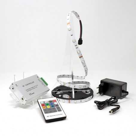 Kit bande led RGB 30led/m IP20 2m50 contrôleur RF 220V