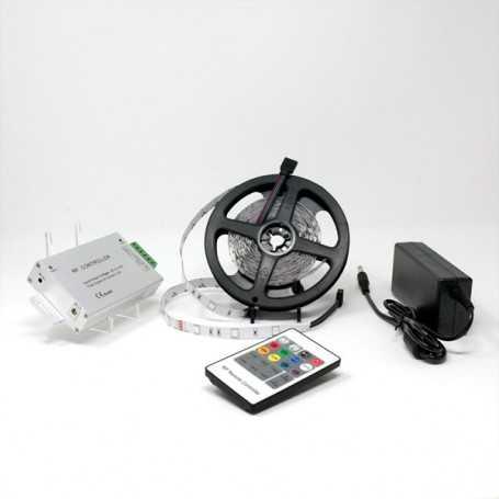 Kit bande led RGB 30led/m IP20 5m contrôleur RF 220V