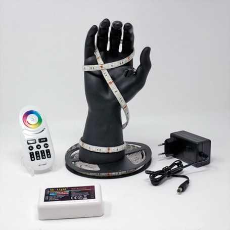 Kit bande led RGB 60led/m IP54 2m50 contrôleur multizone 220V
