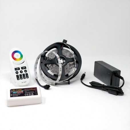 Kit bande led RGB 60led/m IP20 5m contrôleur multizone 220V