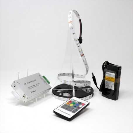 Kit bande led RGB 30led/m IP20 2m50 contrôleur RF avec batterie 4200mAh