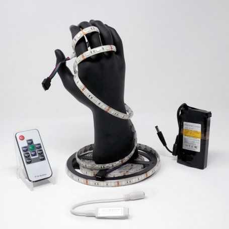 Kit bande led RGB 60led/m IP54 5m mini contrôleur RF avec batterie 4200mAh