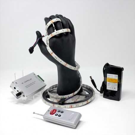 Kit bande led RGB 60led/m IP54 5m capteur son avec batterie 4200mAh