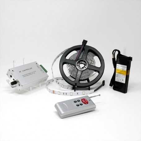 Kit bande led RGB 30led/m IP20 5m capteur son avec batterie 1800mAh