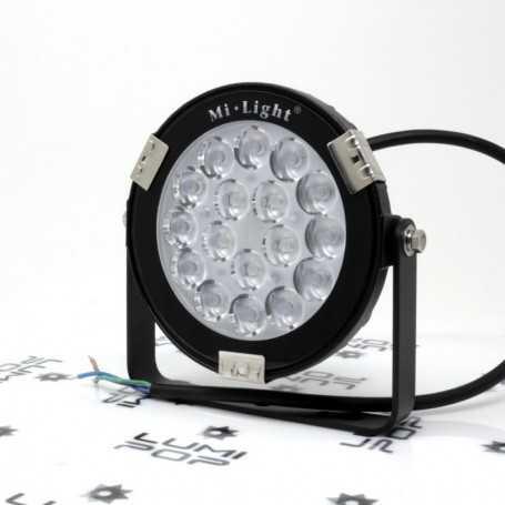 Spot LED de jardin connecté étanche RGB+CCT 9W 220V Mi-Light