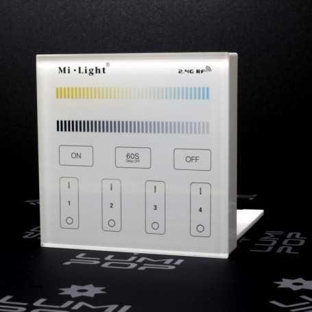 Panneau tactile LED CCT 4 zones à piles Mi-Light