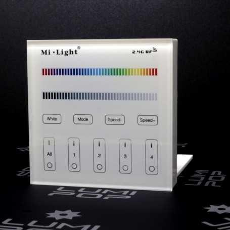 Panneau tactile LED RGB/RGBW 4 zones à piles Mi-Light