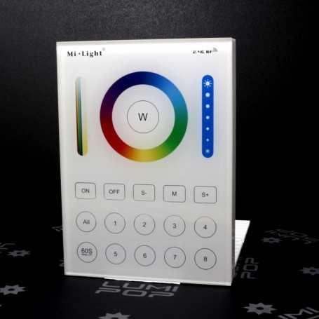 Panneau tactile LED RGB+CCT 8 zones à piles Mi-Light