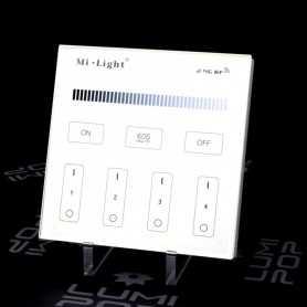 Panneau tactile LED Variateur 4 zones 220V Mi-Light