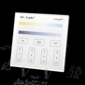 Panneau tactile LED CCT 4 zones 220V Mi-Light