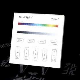 Panneau tactile LED RGB/RGBW 4 zones 220V Mi-Light