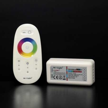 Kit contrôleur RGBW avec télécommande RF tactile Mi-Light