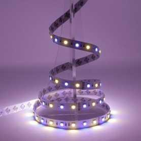 Bande LED RGB+WW avec un blanc chaud 12V 60LED/m IP20 5m