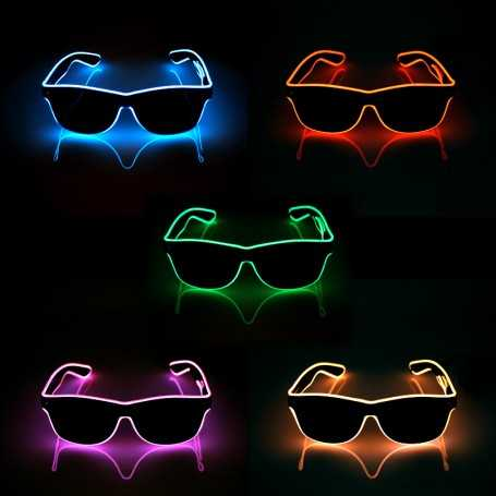 Pack de 5 lunettes lumineuses LED avec boitier piles
