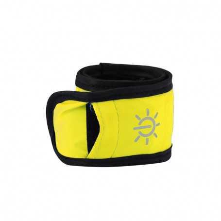 Bracelet lumineux LED jaune étanche pour sortie sportive