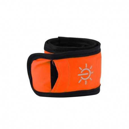 Bracelet lumineux LED orange étanche pour sortie sportive
