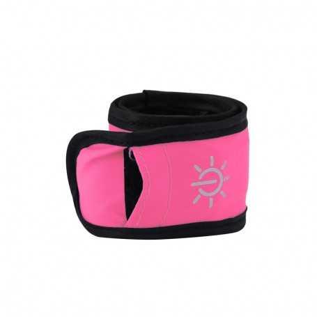 Bracelet lumineux LED rose étanche pour sortie sportive