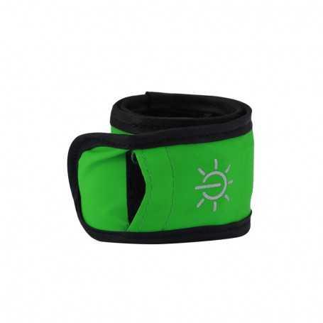 Bracelet lumineux LED vert étanche pour sortie sportive
