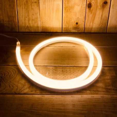Néon LED flexible blanc chaud 220V direct étanche