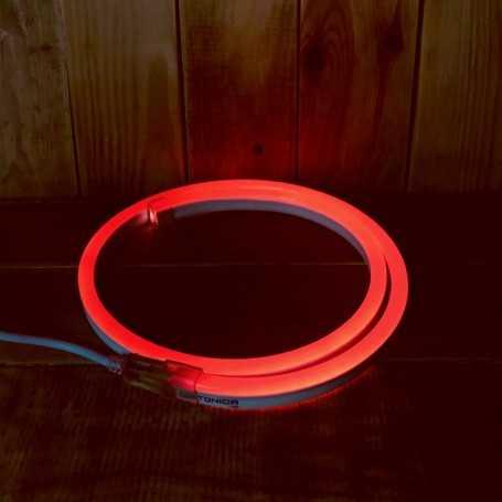 Néon LED flexible rouge 220V direct étanche