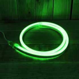 Néon LED flexible vert 220V direct étanche