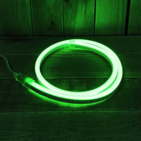 Néon LED flexible vert 220V direct étanche