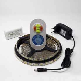 Kit ruban led CCT 2 en 1 blanc variable 60led/m étanche 2m50 contrôleur RF 220V