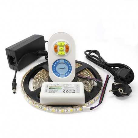 Kit ruban led CCT 2 en 1 blanc variable 60led/m étanche 5m contrôleur RF 220V