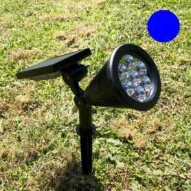 Spot solaire LED bleu 60 lumens