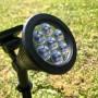Lentille 7 LED du spot solaire 60lm