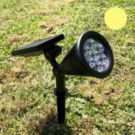 Spot solaire LED blanc chaud 60 lumens