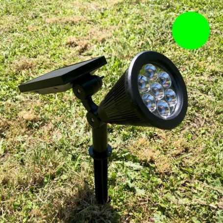 Spot solaire LED vert 60 lumens