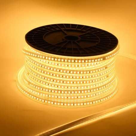 Ruban LED 220V direct blanc chaud