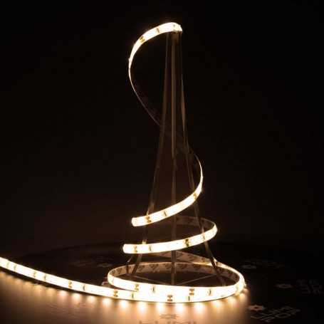 Ruban LED blanc chaud 12V 60LED/m étanche 5m PREMIUM