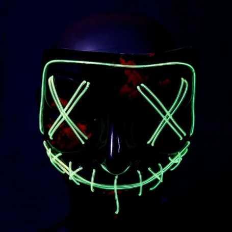 Masque lumineux La Purge vert