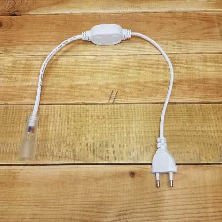 Connecteur d'alimentation pour néon LED rond 360 degrés
