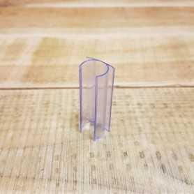 U de fixation transparent de 5cm pour néon LED rond 360 degrés