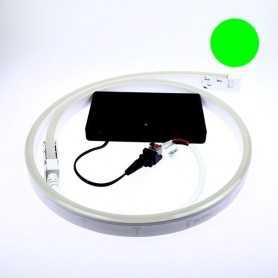 Kit led néon flex piles vert de 1 à 5m. Nomade avec bouton on/off
