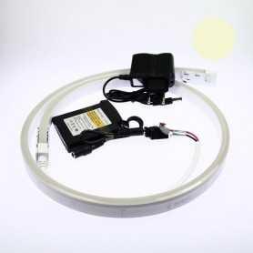 Kit batterie led neon flex blanc chaud complet de 1 à 5m. Qualité premium