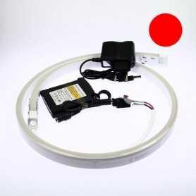 Kit batterie led neon flex rouge complet de 1 à 5m. Qualité premium