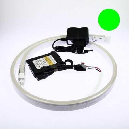 Kit batterie led neon flex vert complet de 1 à 5m. Qualité premium