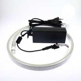 Kit 220V led néon flex slim blanc complet. De 1m à 10m au choix