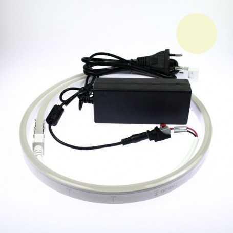 Kit 220V led néon flex slim blanc chaud complet. De 1m à 10m au choix